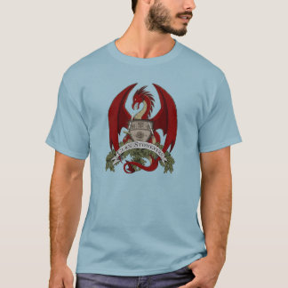 Stonefire Dragons Crest (Red), Basic Men's T-shirt