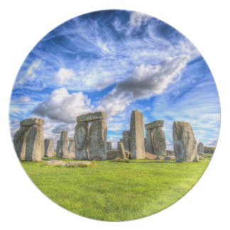Stonehenge Ancient Britain Plate