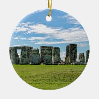 Stonehenge, England Round Ceramic Ornament