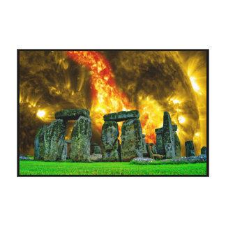 Stonehenge Fantasy Sky Ruin Canvas Print