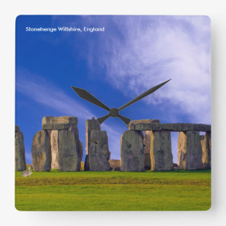 Stonehenge image for Round Large Wall Clock