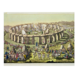 Stonehenge, or a Circular Temple of the Druids, pl Postcard