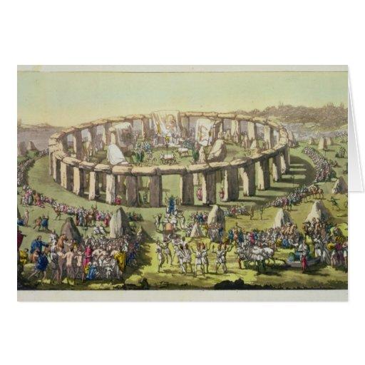 Stonehenge, ou un temple circulaire des druides, p carte de vœux