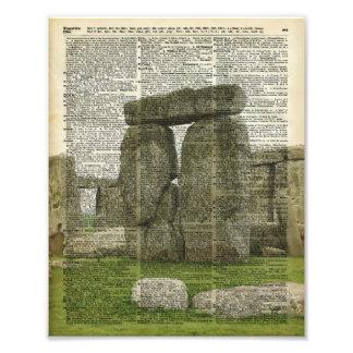 Stonehenge over Dictionary page Photo Print