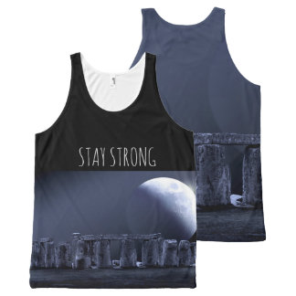 STONEHENGE Stay Strong Mindfulness Gift Moonlight All-Over-Print Tank Top