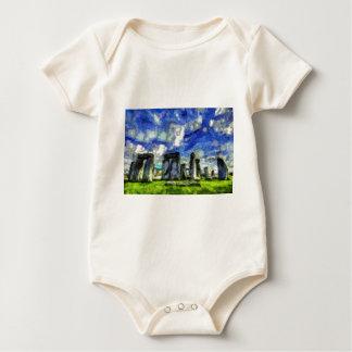 Stonehenge Vincent Van Gogh Baby Bodysuit
