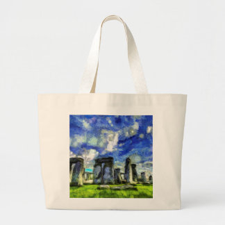 Stonehenge Vincent Van Gogh Large Tote Bag