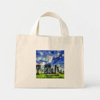 Stonehenge Vincent Van Gogh Mini Tote Bag