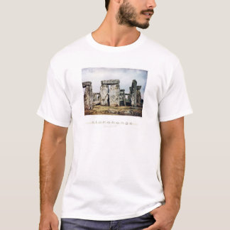 Stonehenge Watercolor Art T-Shirt