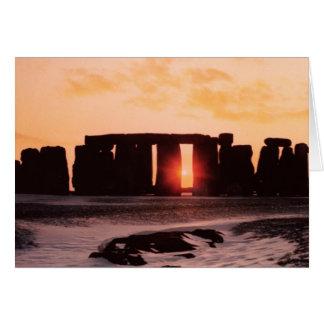 Stonehenge, Winter Solstice Card