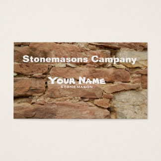 stonemason business card