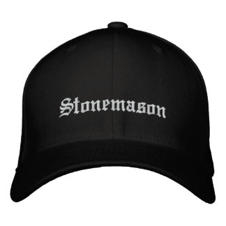 Stonemason Embroidered Hat