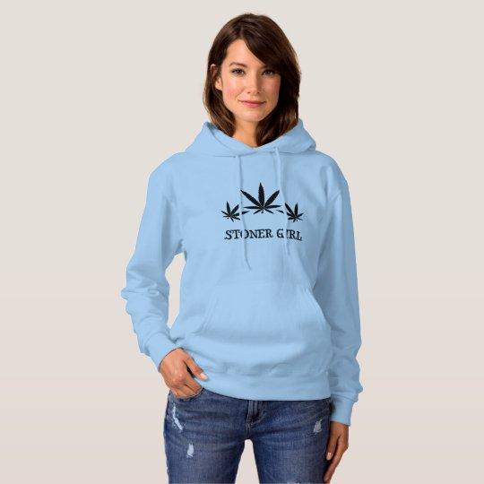 Stoner girl 420 hoodie