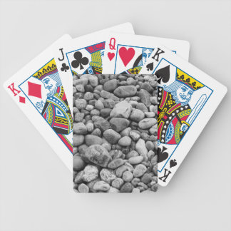 Stones at the Baltic Sea grey Bicycle Playing Cards