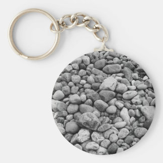 Stones at the Baltic Sea grey Keychain