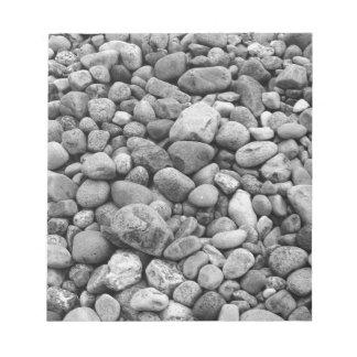 Stones at the Baltic Sea grey Notepad