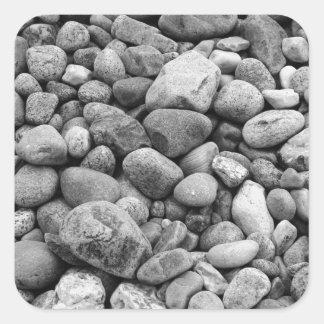 Stones at the Baltic Sea grey Square Sticker