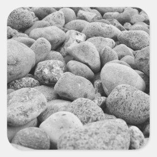Stones at the Baltic Sea/island Square Sticker