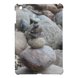 Stones at the Baltic Sea, stacked, stone balance Cover For The iPad Mini