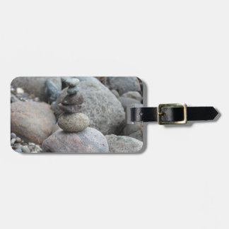 Stones at the Baltic Sea, stacked, stone balance Luggage Tag