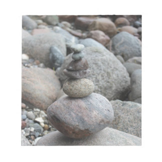 Stones at the Baltic Sea, stacked, stone balance Notepad