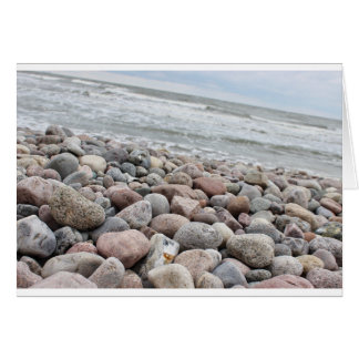 Stones at the beach/Baltic Sea/island reproaches Card