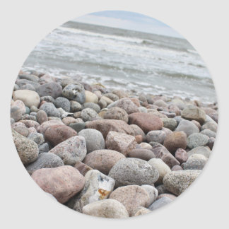 Stones at the beach/Baltic Sea/island reproaches Classic Round Sticker