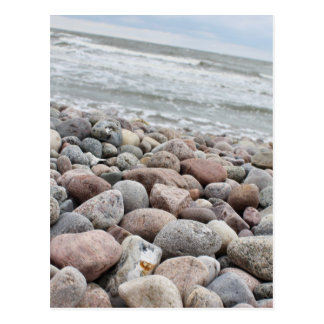 Stones at the beach/Baltic Sea/island reproaches Postcard