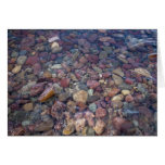 Stones in the lake at Glacier National Park Greeting Card
