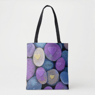 Stones Love Hearts Tote Bag