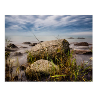 Stones on shore of the Baltic Sea Postcard