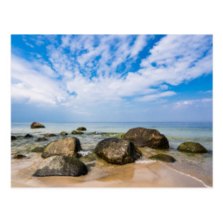 Stones on the Baltic Sea coast Postcard