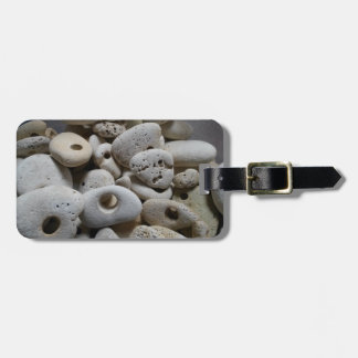 Stones rock rustic travel baggage label luggage tag