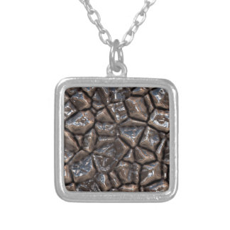 stones surface v1 silver plated necklace