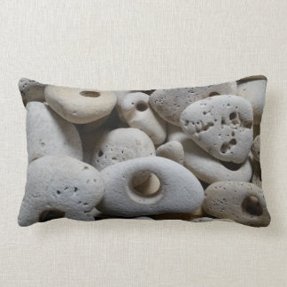 Stones with holes contemporary reversible lumbar pillow