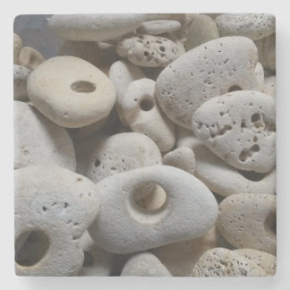 Stones with holes drinks mat stone beverage coaster
