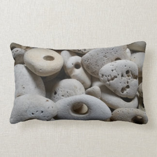 Stones with holes original and fun lumbar pillow
