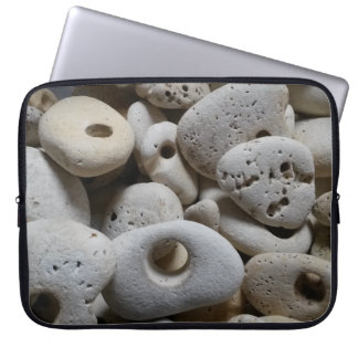 Stones with holes rock beach trendy computer sleeve