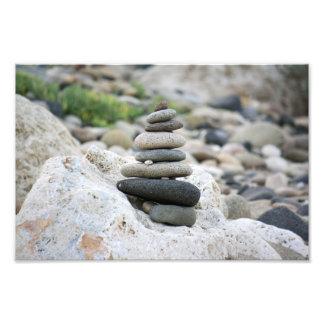 Stones zen in the beach of Almeria Art Photo