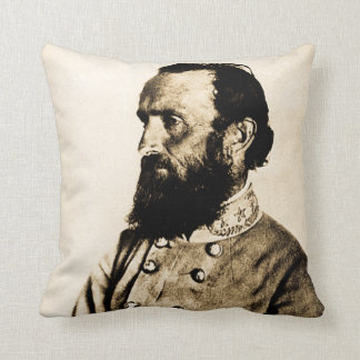 Stonewall Jackson Civil War Hero Legend Throw Pillow