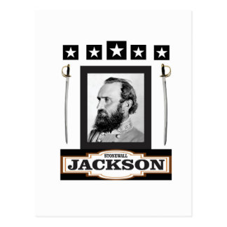 stonewall jackson history postcard