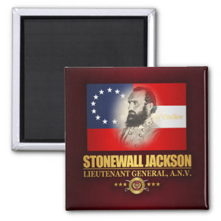 Stonewall Jackson (Southern Patriot) Square Magnet