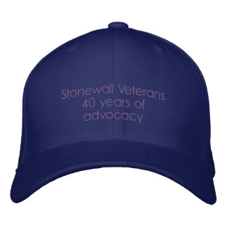 Stonewall Veterans 40 years of advocacy Embroidered Hat