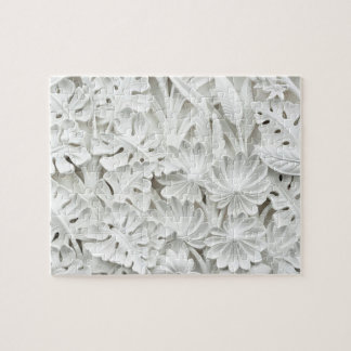 Stonework in a Leaf and Flower Motif Jigsaw Puzzle