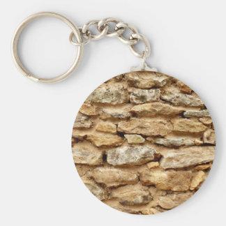 Stonework Key Ring Basic Round Button Keychain