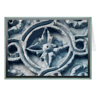 Stonework on building in Toledo, Spain Card
