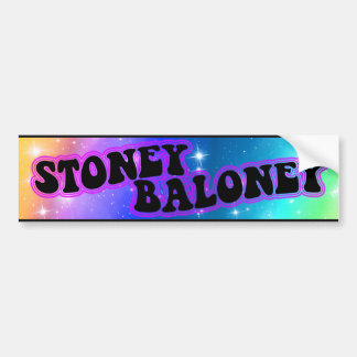 Stoney Baloney trippy bumper sticker