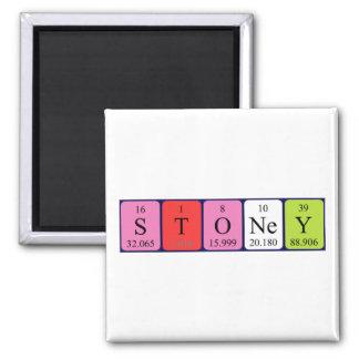 Stoney periodic table name magnet