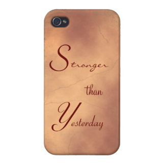 Stonger than Yesterday IPhone Case Motivational Covers For iPhone 4