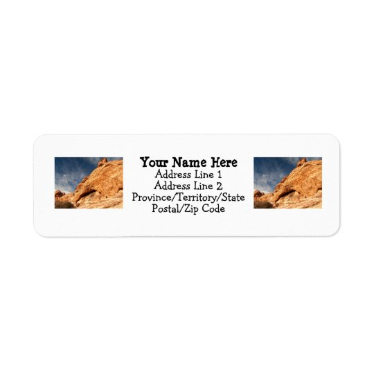 Stony Contrast Return Address Label